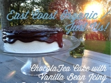 East Coast Organic Milk / Just Us! Brown Bag Challenge Recipe: ChocolaTea Cake with Vanilla Bean Icing and Dark Chocolate Ganache